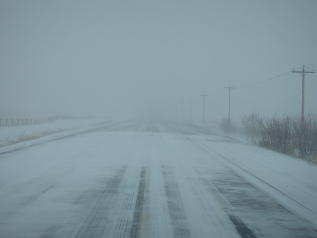 White Out ! High River, Alberta Canada