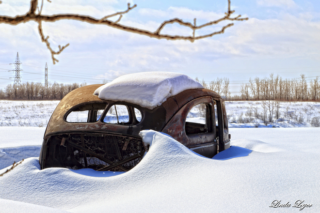 Old Car-cass Springhill, Manitoba Canada