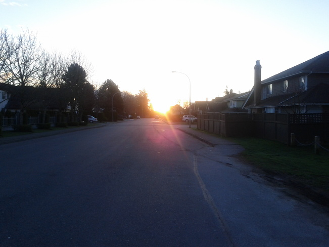 First Sunrise in Spring 2014 ! Richmond, British Columbia Canada