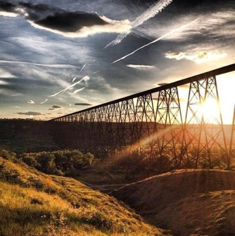 train bridge Lethbridge, Alberta Canada