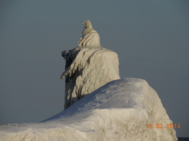 Ice Covered Lighthouse Newcastle, Ontario Canada