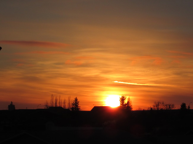 March Sun Rise Kindersley, Saskatchewan Canada