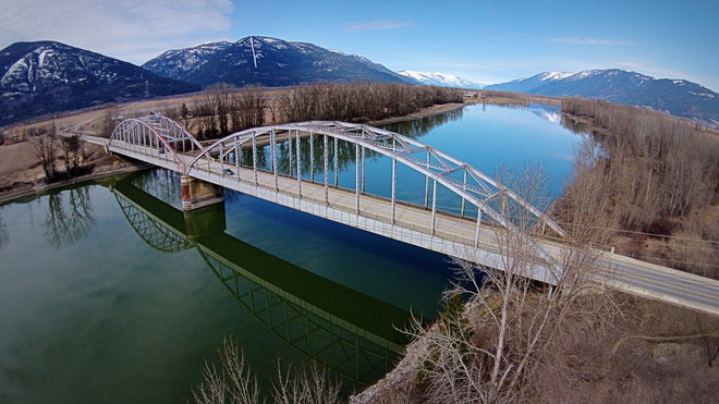 Bridge over the Kootenay River Creston, British Columbia Canada