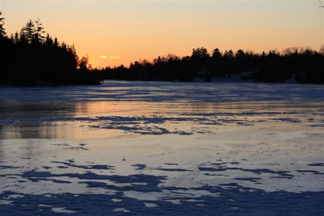 Image of lake in winter Saint John, New Brunswick Canada