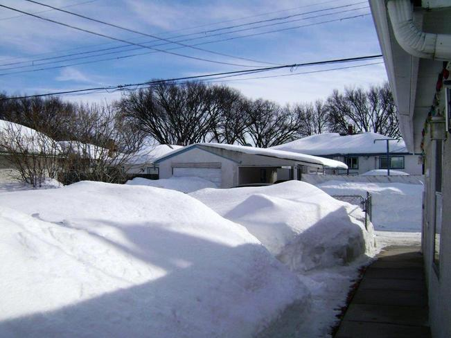 A lot of snow! Winnipeg, Manitoba Canada