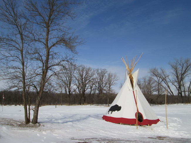 teepee in ruce Woods Park Cypress River, Manitoba Canada
