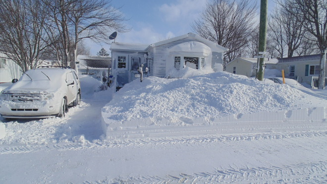 snowed in Summerside, Prince Edward Island Canada