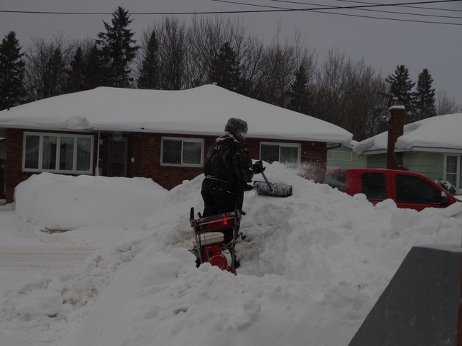 Snowblowing the banks!#2 Sault Ste. Marie, Ontario Canada