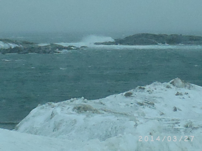 Wave over the rock Channel-Port aux Basques, Newfoundland and Labrador Canada