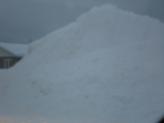Now that is a lot of SNOW Elliot Lake, Ontario Canada