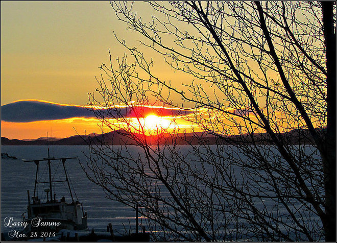 """Sunrise In Springdale"" Springdale, Newfoundland and Labrador Canada"