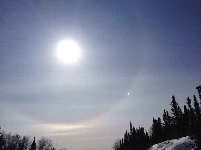 Saturday Sun Dog Sioux Lookout, Ontario Canada