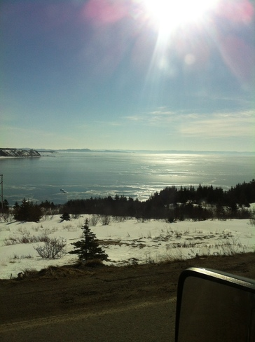 ice in bay st george Stephenville, Newfoundland and Labrador Canada