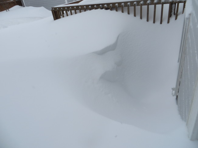 How do we get in with a full weell of snow Mount Pearl, Newfoundland and Labrador Canada
