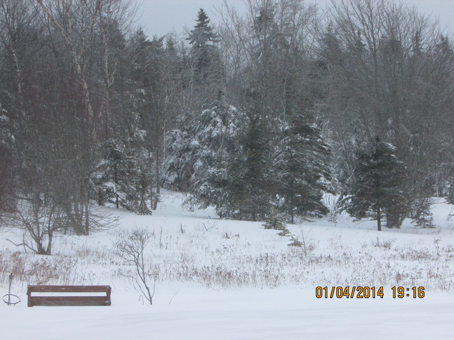 snow finaly stoped Joggins, Nova Scotia Canada