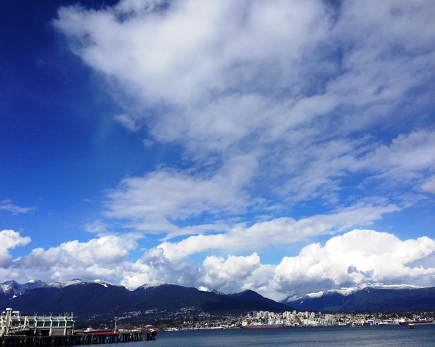 Clouds over North shore! Vancouver, British Columbia Canada