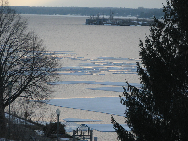 Spring break-up on the St. Lawrence River at Brockville Brockville, Ontario Canada