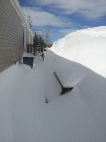 Now that's a snow drift! Fredericton, New Brunswick Canada