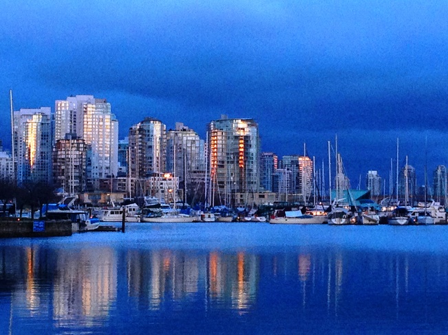Crisp Cool Evening Vancouver, British Columbia Canada
