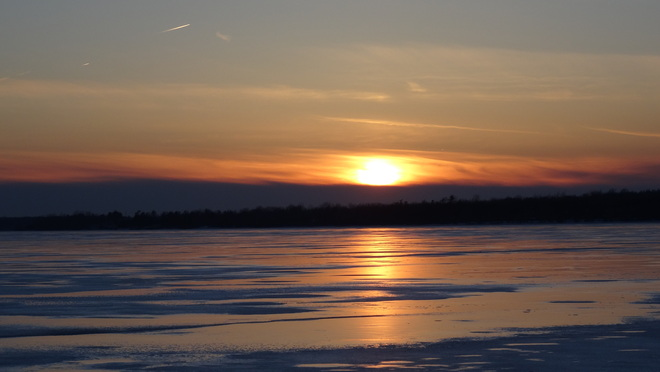 Sunset on Icy Lake Stella, Ontario Canada