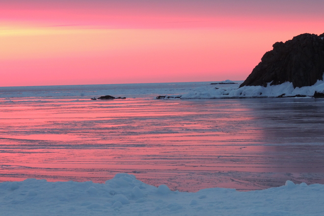 Mirrored sunset. Twillingate, Newfoundland and Labrador Canada