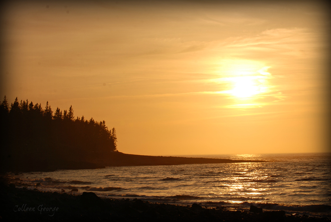 Golden Sunset on the Fundy Shore Centreville, Nova Scotia Canada