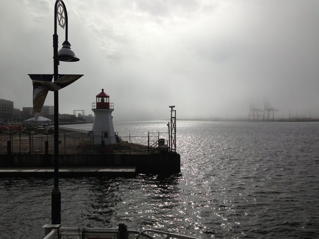fog on the water Saint John, New Brunswick Canada