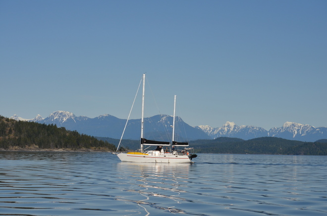 Sailing in the spring Campbell River, British Columbia Canada