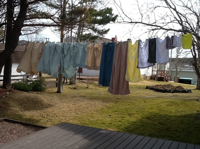 Nice day for drying cloths Bay Roberts, Newfoundland and Labrador Canada