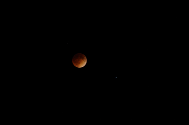 Blood moon April 15, 2014 Oakbank, Manitoba Canada