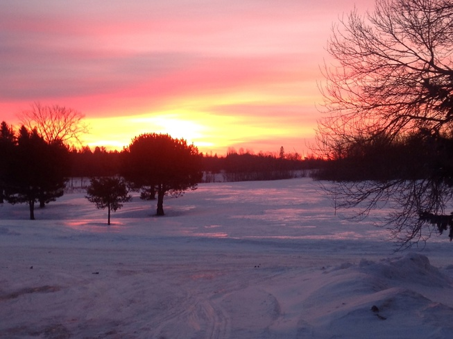 Beautiful morning sunrise Renfrew, Ontario Canada