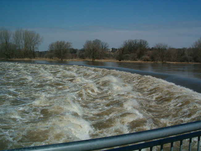 Grand River Flooding Brantford, Ontario Canada