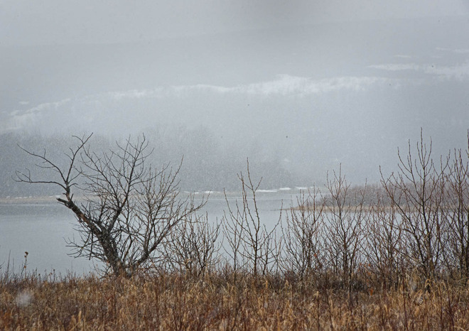 Snow Rain and Mountain Mists Lethbridge, Alberta Canada