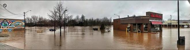 flooding of the Tims downtown Sussex Sussex, New Brunswick Canada