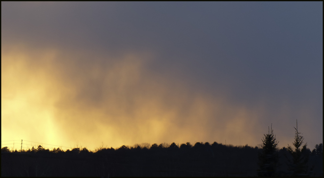 Snow clouds at sunset, Elliot Lake. Elliot Lake, Ontario Canada