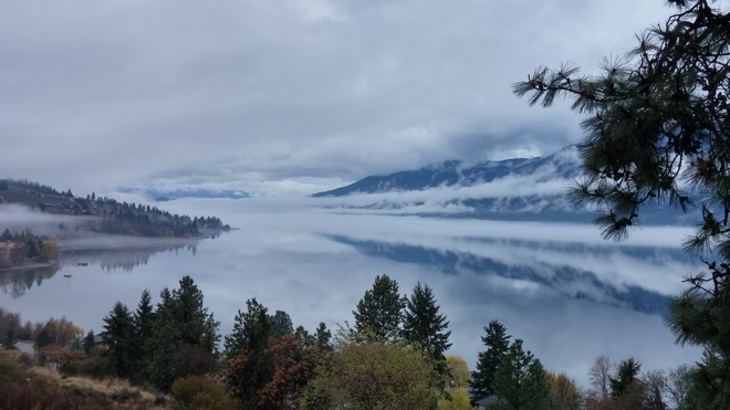 Foggy Lake Okanagan Lake Country, British Columbia Canada