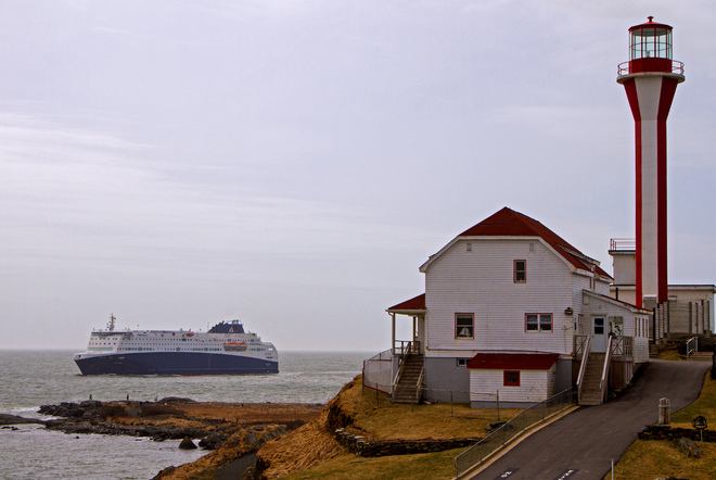 Nova Star passes the Yarmouth Light Yarmouth, Nova Scotia Canada