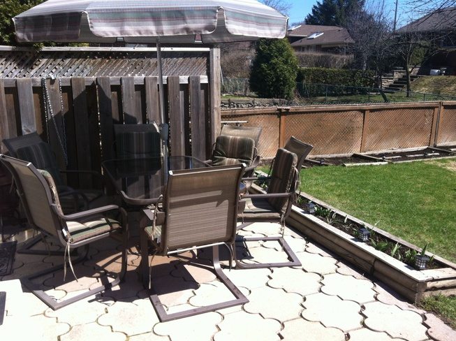 ready for relaxation on patio Guelph, Ontario Canada