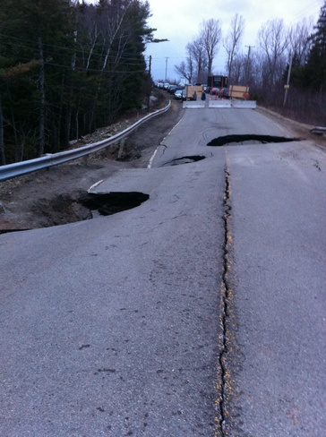 up date on washed out road Coverdale, New Brunswick Canada