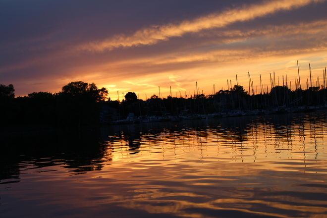 Sunset at Frenchmans bay Pickering, Ontario Canada