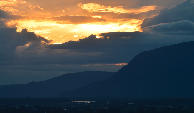 Evening in the Fraser Valley Chilliwack, British Columbia Canada