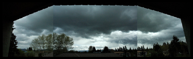 Rain Clouds over Tzouhalem Cowichan Valley, British Columbia Canada