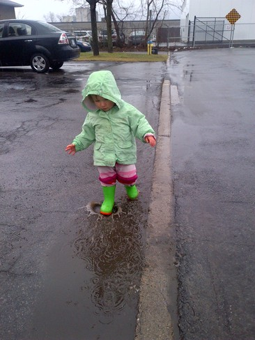 Serious puddle splashing Ottawa, Ontario Canada