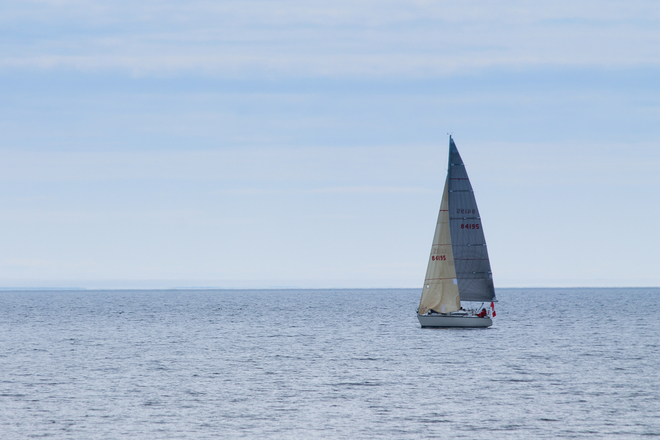 Sailboat on Lake Ontario Kingston, Ontario Canada