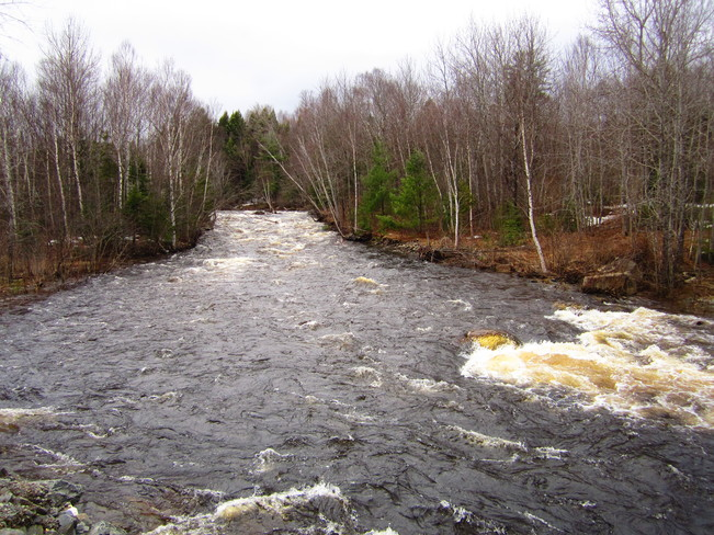 fast moving water Temperance Vale, New Brunswick Canada