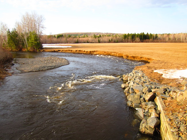 rushing water Temperance Vale, New Brunswick Canada