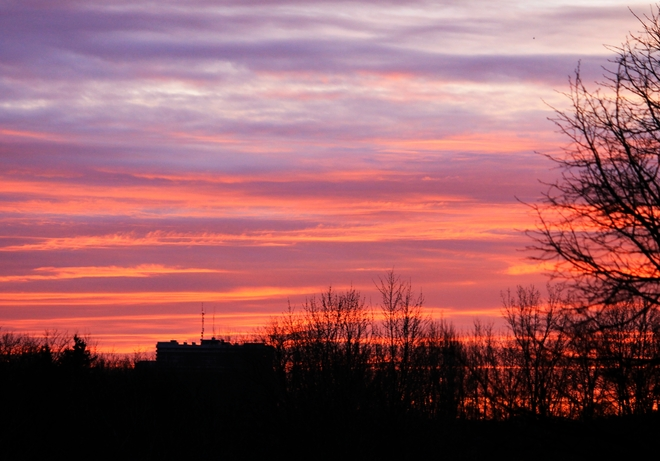 Late April Sunrise Laval, Quebec Canada