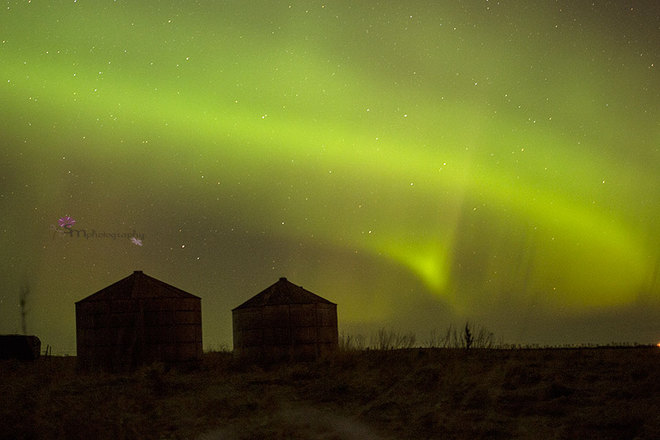 northern lights Weyburn, Saskatchewan Canada