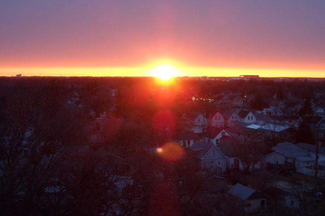 Gorgeous Sunset over St.James area Winnipeg, Manitoba Canada