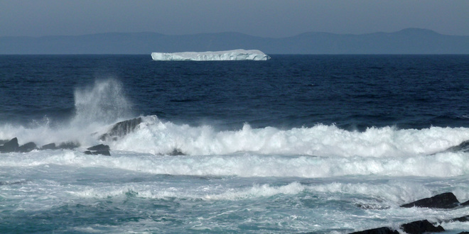 Iceberg off of The Red Tocks Bay Roberts, Newfoundland and Labrador Canada